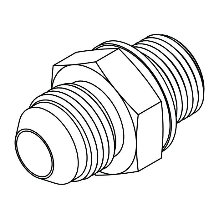 7//16-20 Male JIC x 7//16-20 Male JIC Hydraulic fitting 04MJ-04MJ Carbon Steel Tompkins 2403-04-04