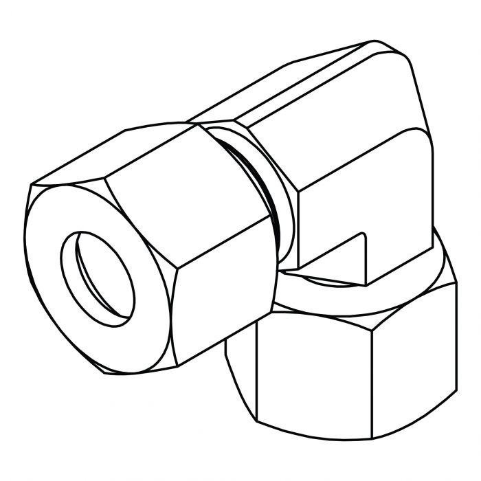 Metric Compression Swivel Elbow 90
